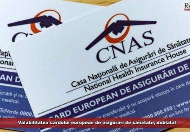 Valabilitatea cardului european de sănătate se dublează de joi